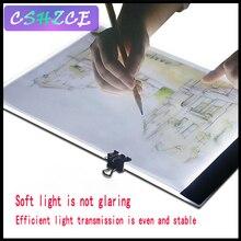 Для художников рисуйте наброски A4 ультратонкий портативный светодиодный световой короб Tracer USB power светодиодный Artcraft трассировочный свет Pad с подарком