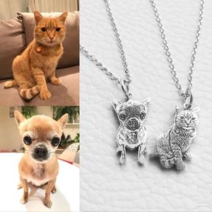 Image 1 - Индивидуальное изготовление на заказ, фото, драгоценности, ожерелье педант DIY с собакой, Очаровательное ожерелье с животными, ювелирные изделия