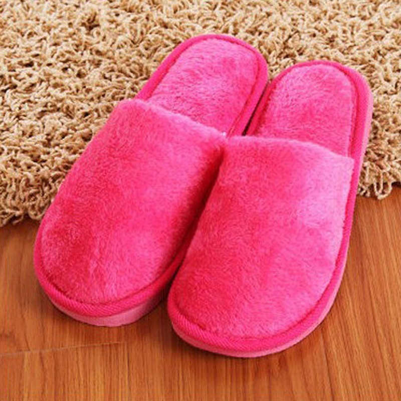 Litthing Solid Winter Warm Thuis Slippers Mannen Vrouwen Slaapkamer Slippers Indoor Slippers Katoen Vloer Thuis Pluche Schoenen Anti-Slip