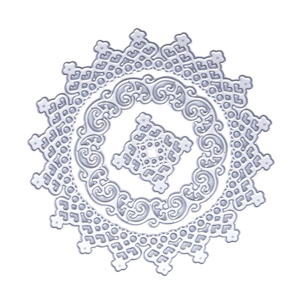 ̿̿̿(•̪ )3 unids flor Marcos metal Recortes de papel plantillas para ...