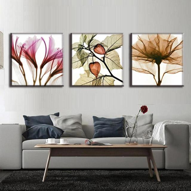 3 Stücke Öl Kunst Malerei Blumen Perspektive Moderne Abstrakte 3 Farbe  Blumen Malerei Wandbilder Für Wohnzimmer