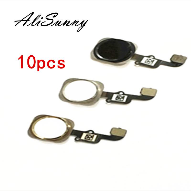 AliSunny 10pcs Home Button Flex Cable for iPhone 6 4.7\'\' 6G 6S Plus 5S Menu Sensor Replacement Parts