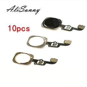 AliSunny 10pcs Home Button Flex Cable for iPhone 6 4.7'' 6G 6S Plus 5S Menu Sensor Replacement Parts(China)