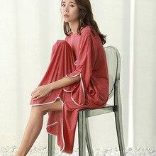 2019 קיץ חדש בתוספת גודל שמלה מזדמן נשים sleepdress נקבה עבור משקל 100kg כותונת רופף בית בגדי sleepshirts