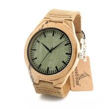 Zebra Dial Relojes de Cuarzo Cara Del Reloj de Madera De Madera De Bambú Verde Bobo Reloj de Pulsera para hombres de las mujeres Diseñador de la Marca de Madera de Aves como regalo