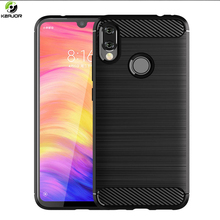 Keajor Case For Xiaomi Redmi Note 7 Soft Silicone Luxury Cover Carbon Fiber Shockproof Phone Funda