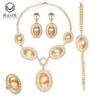 BAUS 2018 אתיופי עגילי תכשיטים לנשים תכשיטי חרוזים אפריקאים להגדיר כלה חתונה תכשיטי זהב ערבית עיצוב סיטונאי