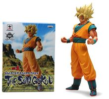 Clássico Anime Comic Akira Toriyama Dragon Ball Z Super Saiyan Goku 22 cm Banpresto Figure nova caixa(China)