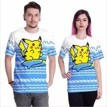 Pokemon Unisex Pikachu Casual T shirt Anime Lovers T-shirts Pokemon Funny print Girls Clothing Pokemon go Women's tshirts