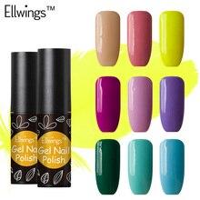 Ellwings 1pcs Soak Off Long Lasting Gel Varnish Semi Permanent Glitter Nail Gel Polish Uv Led