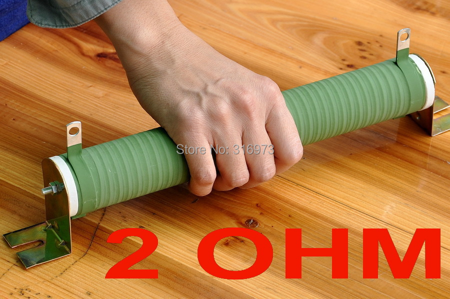 Résistance bobinée de Tube en céramique de puissance élevée de 2 ohms 300 Watts, 300 W.