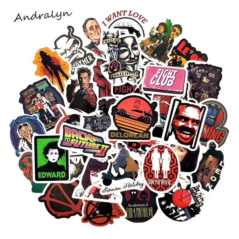 <font><b>50</b></font> Pcs/Pack American Classic Film Series <font><b>Stickers</b></font> For Luggage Refrigerator Motorcycle Skateboard Backpack <font><b>Sexy</b></font> Style <font><b>Stickers</b></font> image