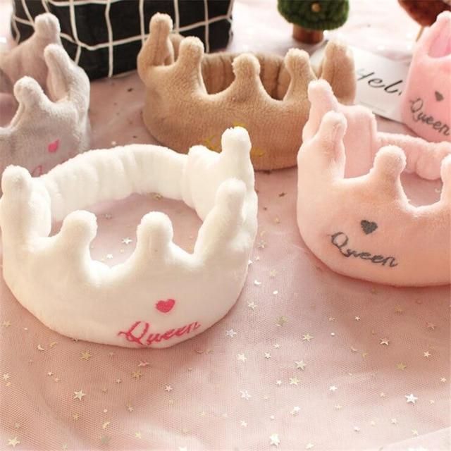 Sweet Girlish Headband For Women Girls Soft Crown Washing Make Up Headband Hair Accessories Elastic Scrunchie Turban Headdress