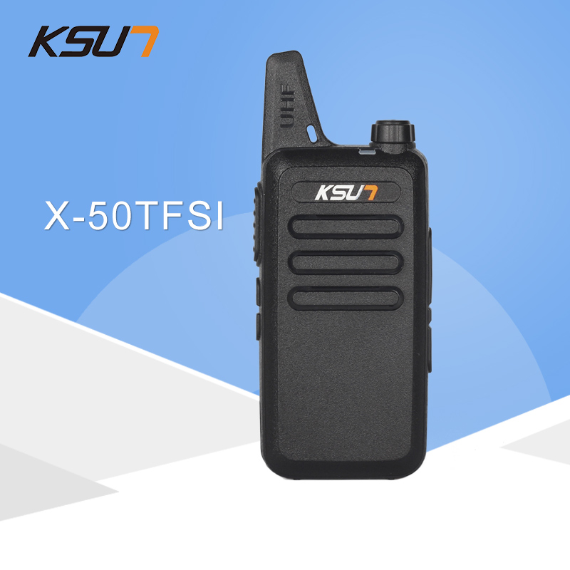 Walkie Talkie KSUN X-50TFSI Ham Tovejs Radio Walkie Talkie Dual-Band Transceiver BUXUN X-50 (Sort)