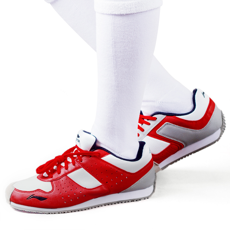 Li-ning Red /white  Color Fencing Shoes