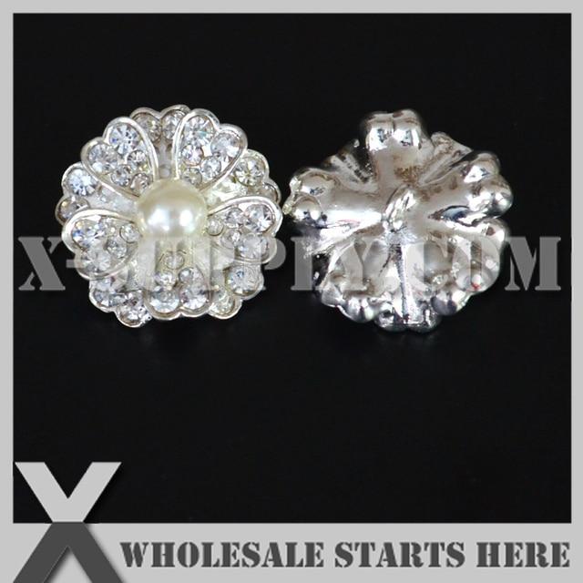 Dhl Free Shipping Diamond Pearl Rhinestone Embellishments Button