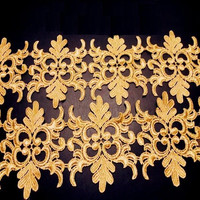 Gorgeous Unilateral Gold Thread 11CM Baroque Lace Diy Handmade Patchwork Crafts Garment Applique Sewing Material Accessories