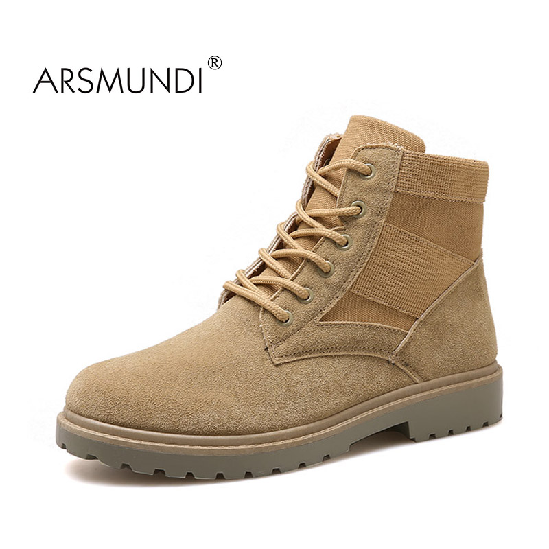 ARSMUNDI Men Fashion Boots YJ-A109 Round Toe Boots Men Casual Shoes - Men's Shoes