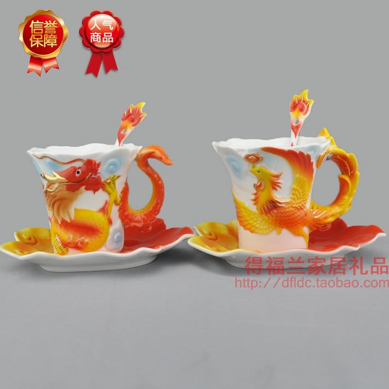 À Café en céramique couple tasses ensemble de mariage cérémonie articles avec le style Européen porcelaine