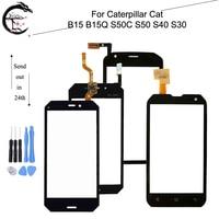 Painel de toque para caterpillar cat b15 b15q s50c s50 s40 s30 digitador da tela de toque sensor de vidro touchscreen com cabo flexível fpc Painel de toque p/ celular     -