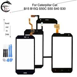 Panel dotykowy dla Caterpillar Cat B15 B15Q S50C S50 S40 S30 ekran dotykowy szkło digitizer z ekranem dotykowym z FPC Flex Cable w Panele dotykowe do telefonów komórkowych od Telefony komórkowe i telekomunikacja na