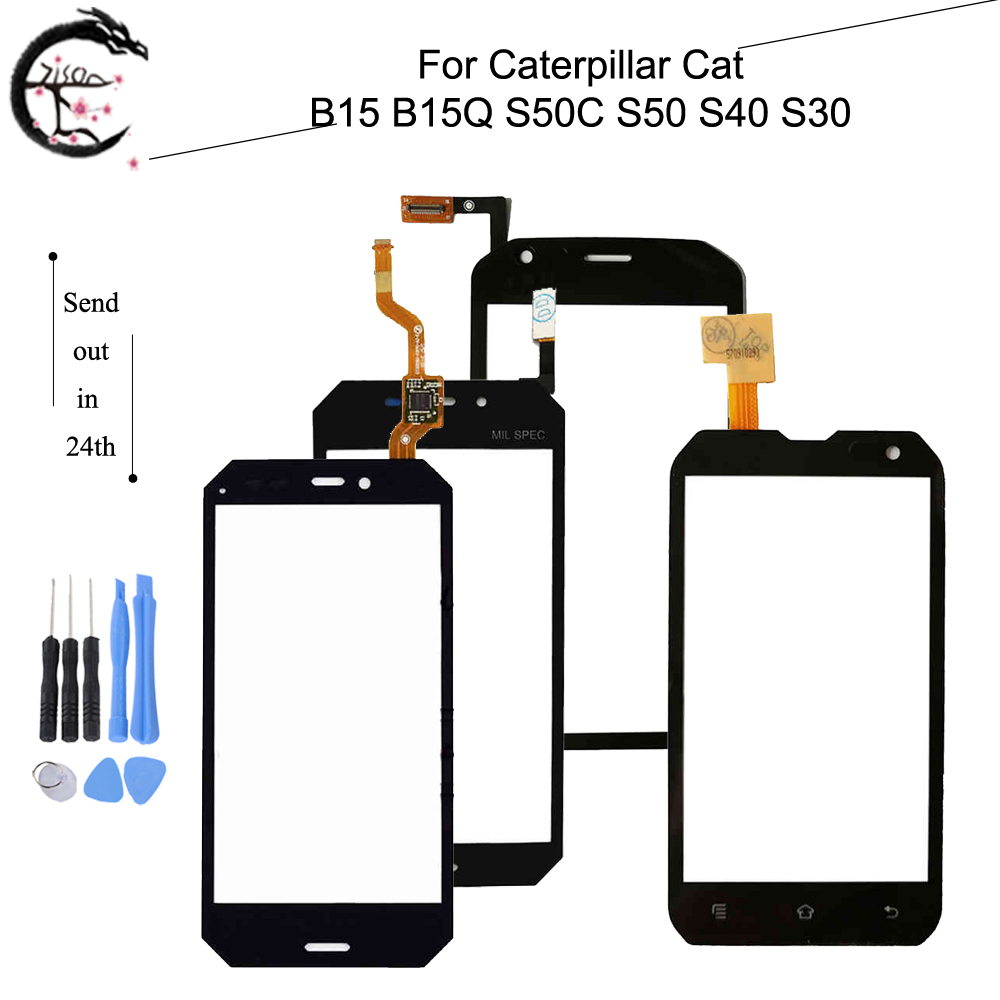 Touch Panel For Caterpillar Cat B15 B15Q S50C S50 S40 S30 Touch Screen Digitizer Glass Sensor Touchscreen With FPC Flex Cable