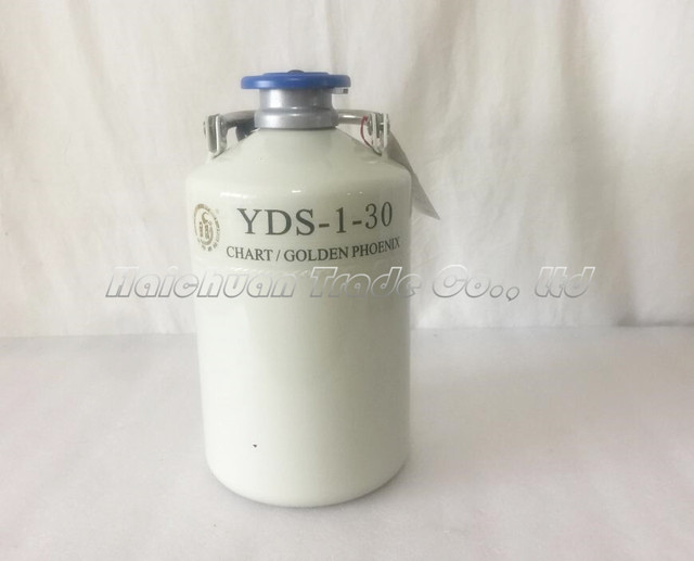 buy popular 3e851 eb470 New 1L With 30MM Mouth Diameter Liquid Nitrogen Container Cryogenic LN2  Tank Dewar