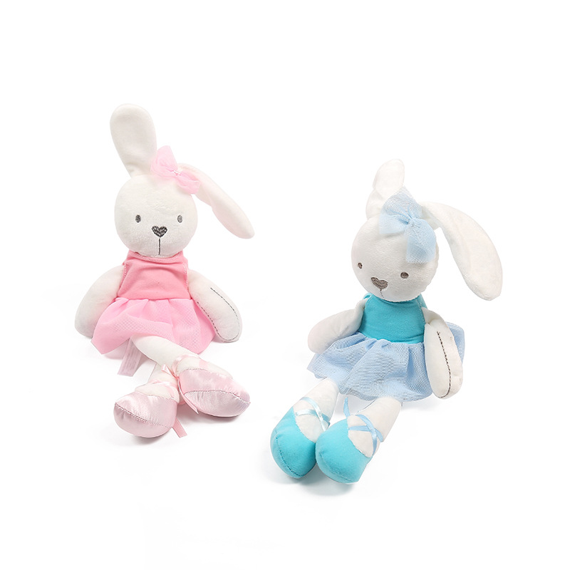 45cm Cute Rabbit with Pink Dress Baby Plush Toy Soft Ballet Bunny Rabbit Doll Kids Comfort Appease Doll Best Gift for Children super cute plush toy dog doll as a christmas gift for children s home decoration 20