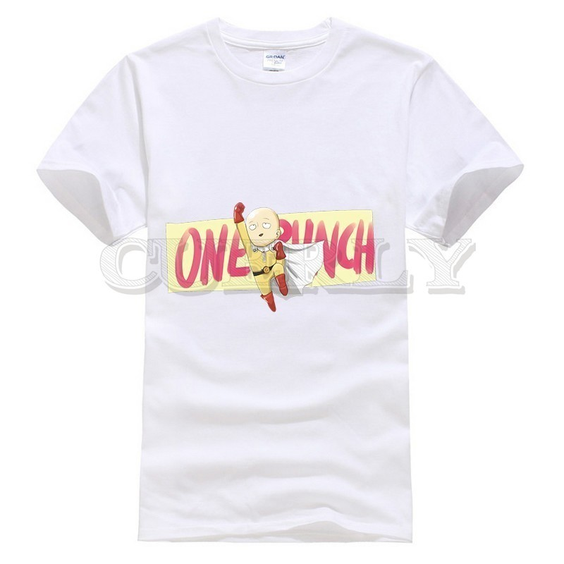 2019 New T shirt Short Sleeve One Punch Man Saitama Thsirt Japan Anime Cartoon Summer Dress Men Tee Funny T Shirt in T Shirts from Men 39 s Clothing