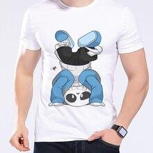 Summer Brand Men T Shirt Game Undertale Upside Down Sans Interesting Cartoon T-Shirt Wholesale O Neck Kawaii T Shirt L1D2