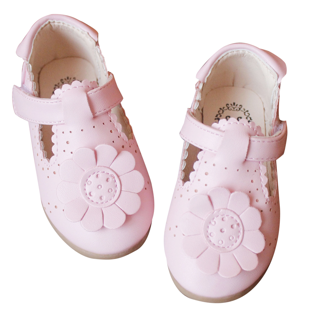Kids Autumn Spring Fashion Flower Shoes For Girl Leather Solid