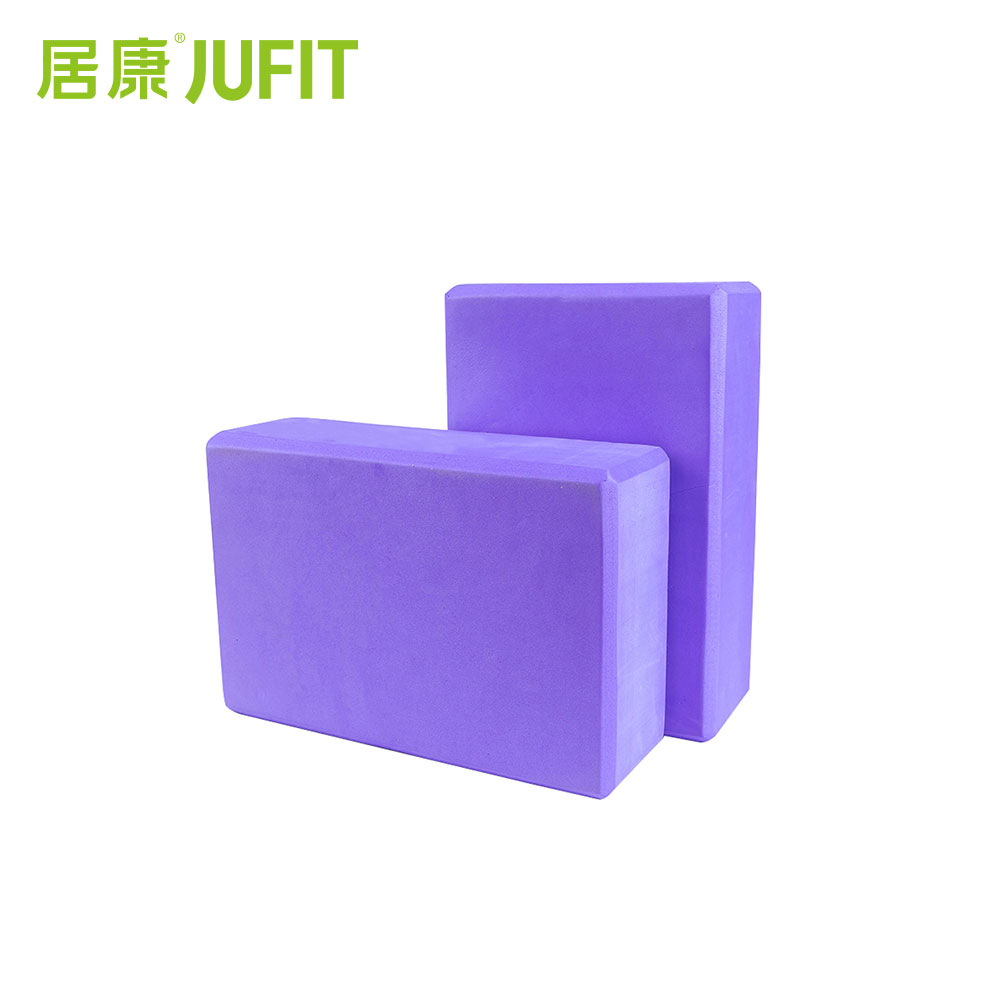 JUFIT High Quality EVA Yoga Bricks Foaming Home Exercise Gym Fitness Waterproof Yoga Blocks 3Colors