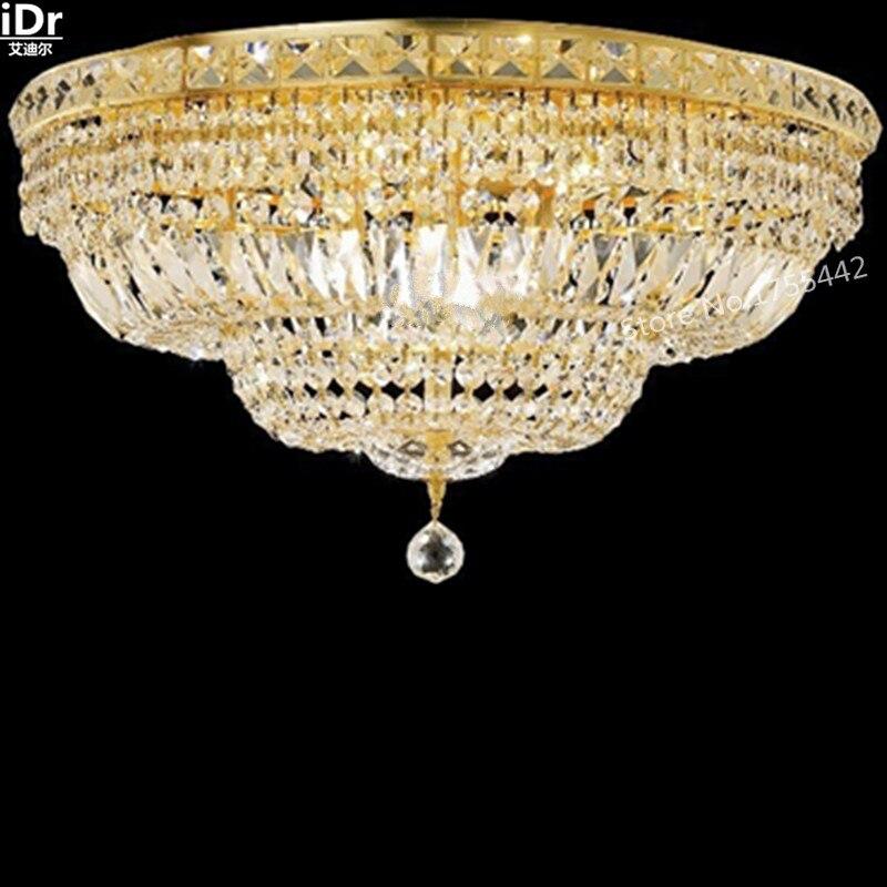 Plafonniers or éclairage encastré lampes en cristal de luxe lampe de chambre d'hôtel lampe D60cm x H33cm