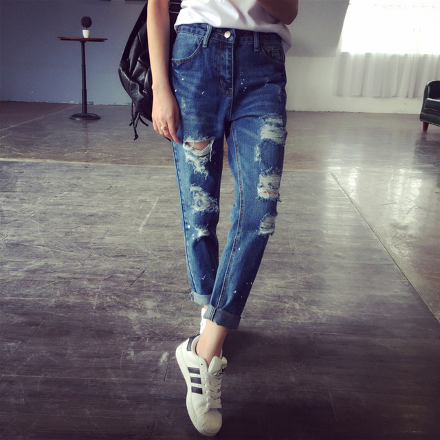 Aliexpress.com : Buy 2015 summer style ripped Jeans New Fashion ...
