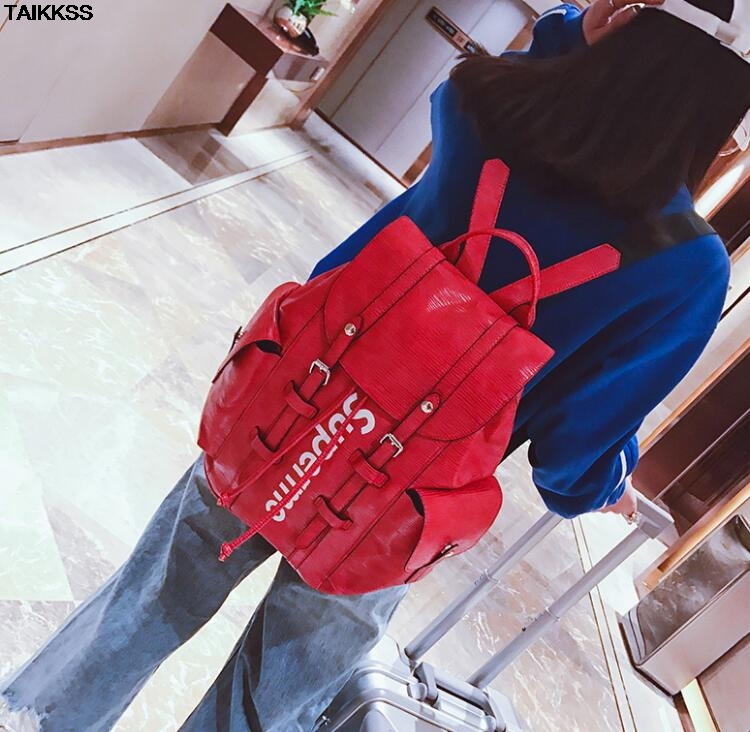 2018New Fashion Luxury Brand Women Men Pu Backpack Girl High Quality Cool Backpacks High School Bag Travel Bags Lady Backpack high quality pu leather backpack women large capacity travel portable shoulder bags girl preppy style school bag new backpacks
