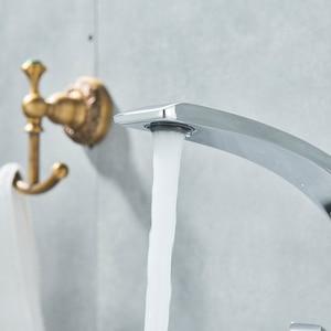 Image 3 - Uythner krom lehçe havzası musluklar banyo musluk bataryası pirinç lavabo musluk tek kolu tek delik havzası evye vinç dokunun