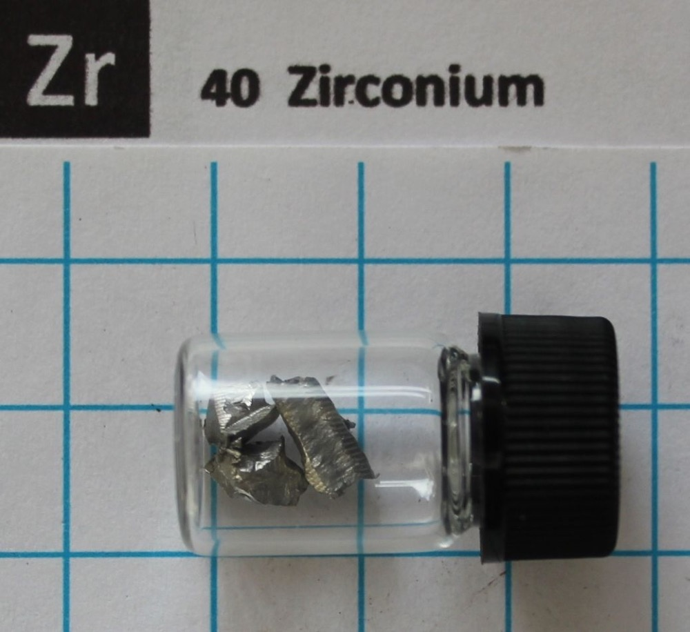 1g 99.9% Zirconium Metal piece(s) in glass vial - Element 40 sample