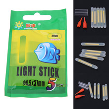 25Pcs 37mm 4.5mm Luminous Fishing Fluorescent Lightstick Night Fishing Float Rod Lights Dark Glow Stick Fishing Accessories
