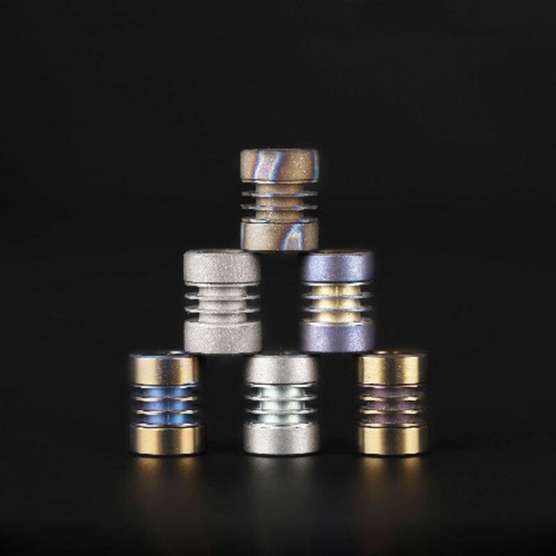 1PC Titanium Alloy Knife Beads Lanyard Pendant Paracord Umbrella Rope DIY Accessories EDC Tool Can Install 3PCS Tritium Gas Tube