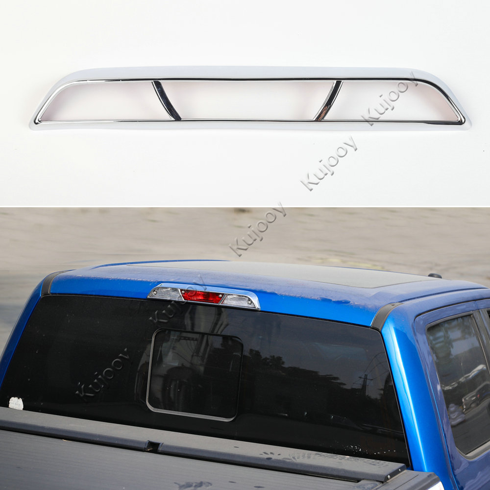 Chrome ABS High Postion Brake Light Lamp Frame Decal Decor Cover Trim For Ford F150 2015+ Car Styling