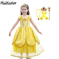 Multicolor 2 10Years Girls Cinderella Dresses Princess Dress Toddler Baby Wedding Party Dress Cosplay Costume Clothes vestidos