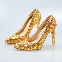 Gold Shoes and Bag Set Wedding Shoes Women Matched Bag For Party Evening Dress Shoe Customize Birthday Gift Girls Ladies Pumps