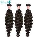 Brazilian Virgin Hair 8A Human Hair Weave Bundles 3Pcs Deep Wave Brazilian Curly Virgin Hair Extensions Rosa Queen Hair Products