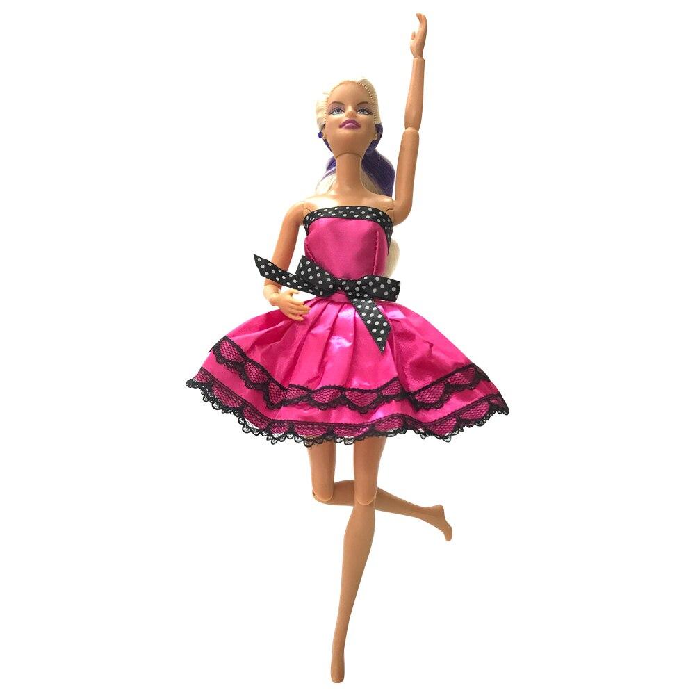 NK One Set Doll Dress New Handmade Fashion Short Ballet Dress For Barbie Doll Accessories Dancing Dress Baby Girl Gift