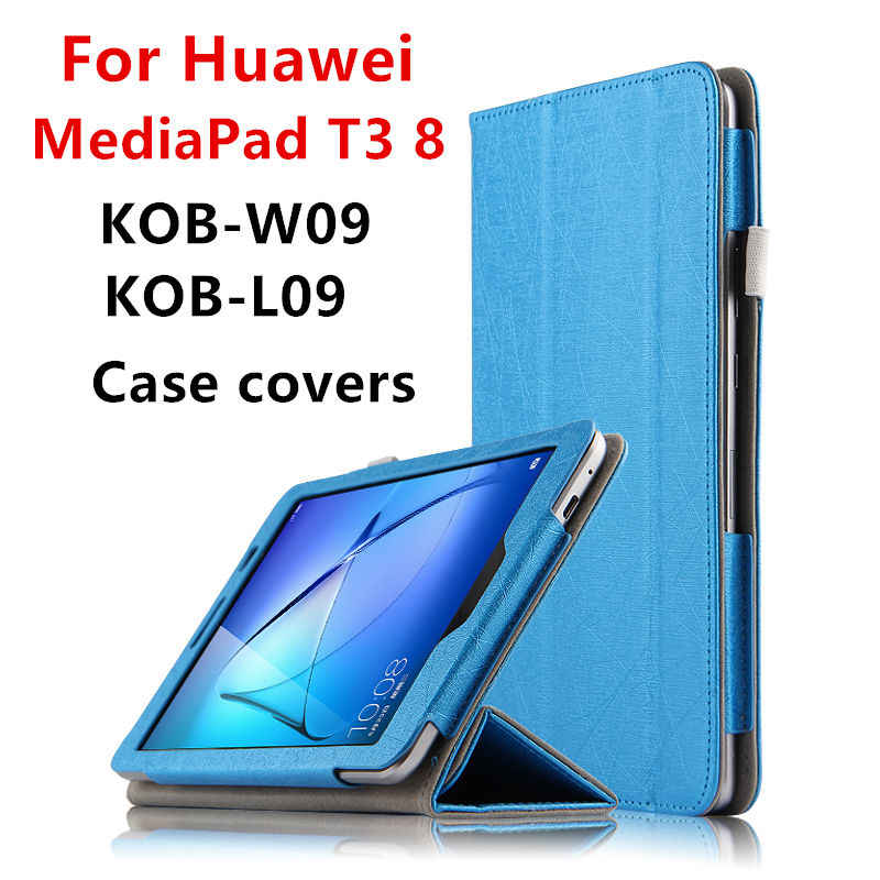 "Case For Huawei MediaPad T3 8.0 Protective Smart Cover Tablet For Honor Play Pad 2 kob-w09 l09 8"" Cases PU Protector T38 Covers"