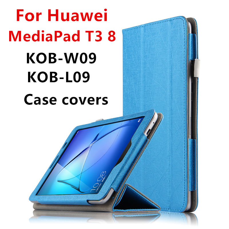 Case For Huawei MediaPad T3 8.0 Protective Smart Cover Tablet For Honor Play Pad 2 kob-w09 l09 8 Cases PU Protector T38 Covers for huawei mediapad t3 7 0 wifi case soft silicone case cover for huawei mediapad t3 7 0 bg2 w09 7 inch tablet pc gifts