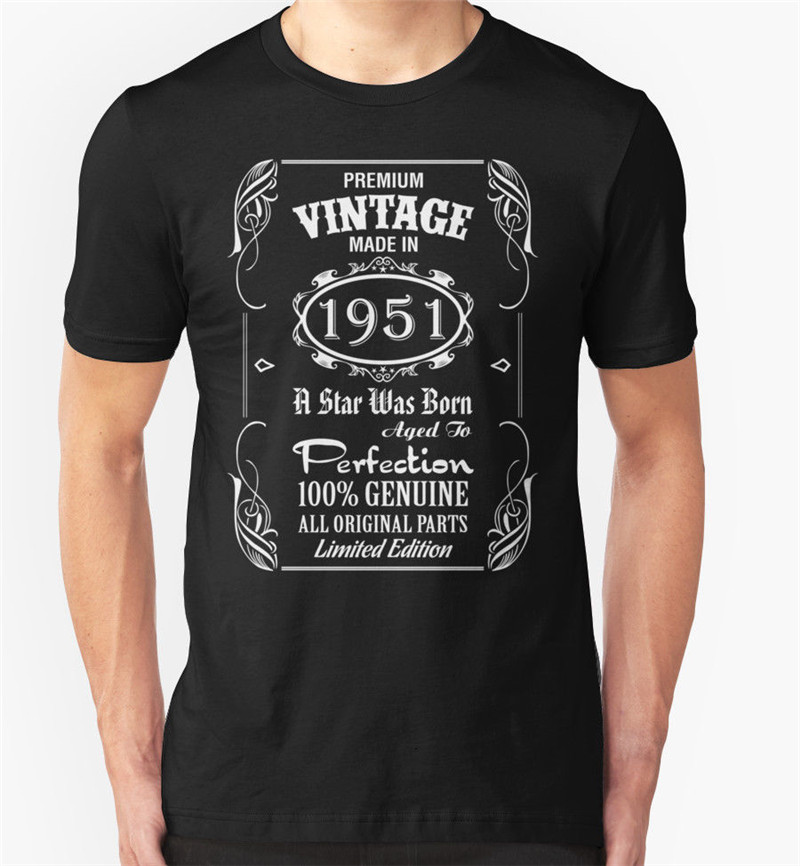 T Shirt Shop Short Men Made In 1951 O-Neck Tall T Shirt