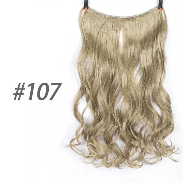 22 Inches Invisible Wire No Clips In Hair Extensions Secret Fish