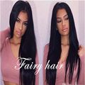 New Arrival 150% Density #1b&4 Color Silky Straight Lace Front Wig With Baby Hair Middle Parting Synthetic Lace Front Wigs