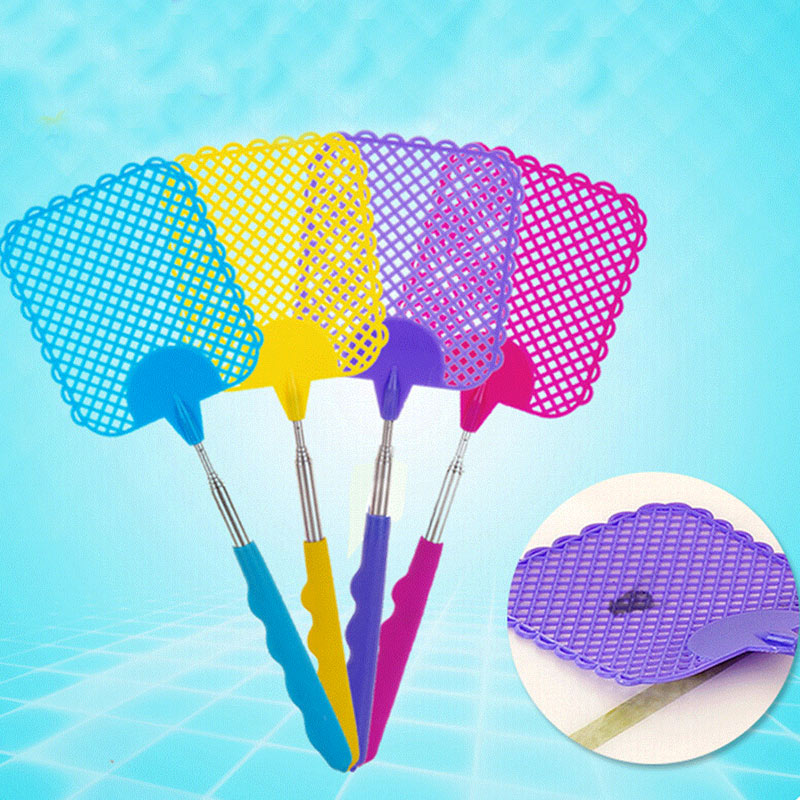 3pcs Fly Extendable Swatter Strong Flexible Swat With Durable Telescopic Stainless Steel Handle ED-shipping